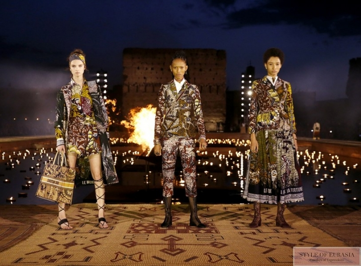 Dior presented the new collection in Marrakech