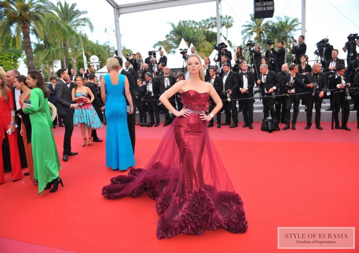 NEWS: Dresses Made in KZ on the red carpet in Cannes