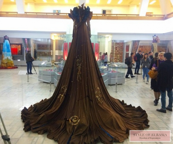 The exhibition of unique 4-meter dresses of Kazakhstani designers was opened in Almaty