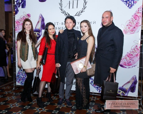 Evening fashion show of shoe collection from «Ait» stores