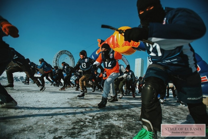 The Red Bull Ice Baiga was held in Astana