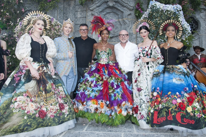 NEWS: Bright colors on the fashion show Dolce & Gabbana Alta Moda