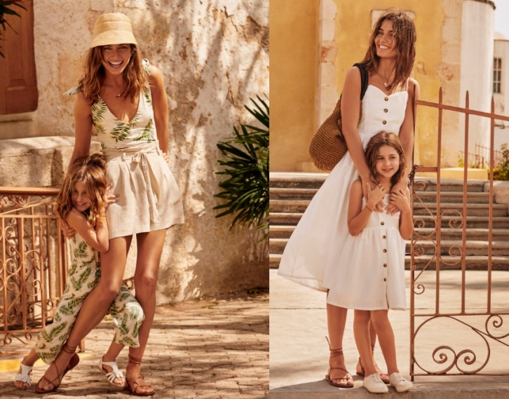 NEWS: H&M summer outfits for mother and daughter in the same style, in one color