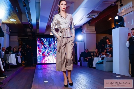 Presentation of the new collection of women's and men's clothing by Denis Tyan