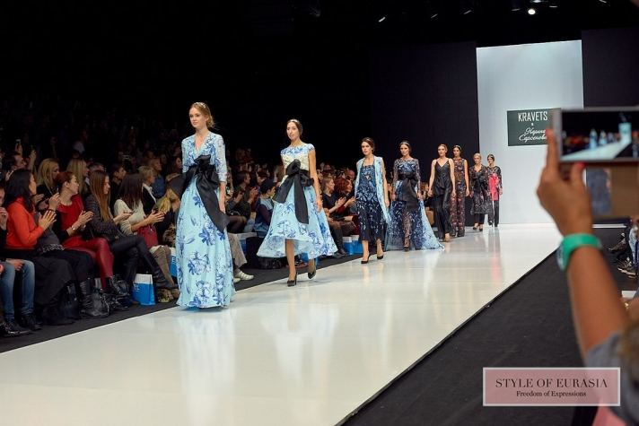 Designer Mikhail Kravets in a duet with a famous poetess presented the collection at the fashion week in Moscow
