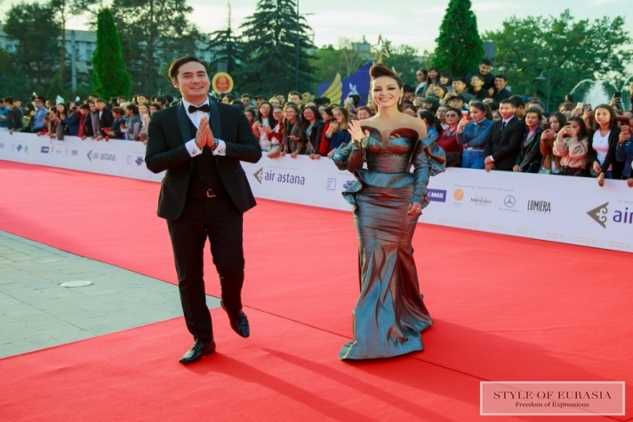 The Red Carpet of the 1st International Film Festival Almaty Film Festival