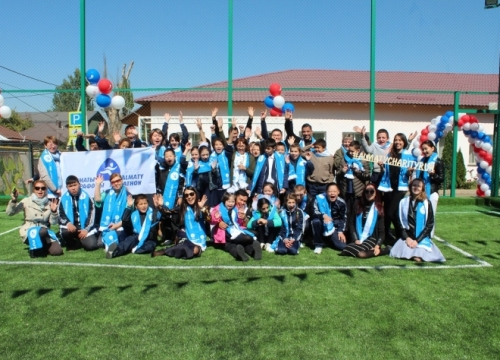 NEWS: Almaty Marathon handed sports grounds to three children's institutions