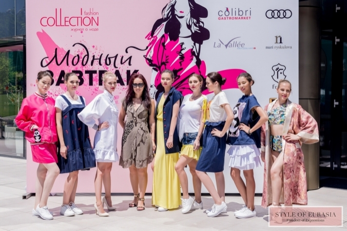 Fashion breakfast with Fashion Collection magazine featuring the collection from Nuri Ryskulova