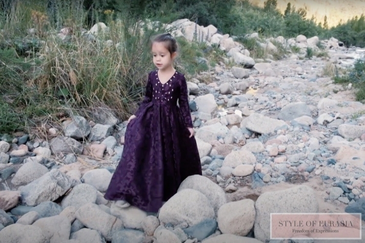 6-year-old Laysan Ismakova in a new music video calls to protect the nature of Kazakhstan