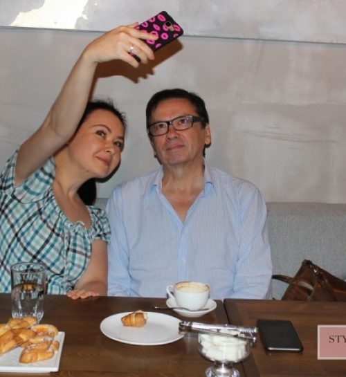 The meeting with the director Rachid Nougmanov dated XII Eurasia International Film Festival
